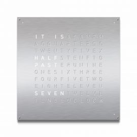 QLOCKTWO LARGE Stainless Steel