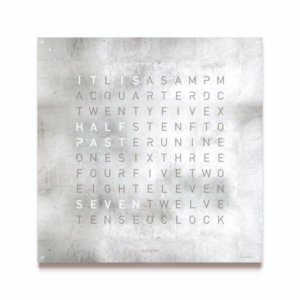 QLOCKTWO Large Creators Edition Platinum